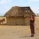 Maasai village by David McGilchrist