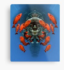 Digital Art - Underwater Metal Print