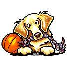 Golden Retriever Basketball Star by offleashart