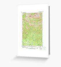USGS Topo Map Washington State WA Mount Stuart 242564 1961 62500 Greeting Card
