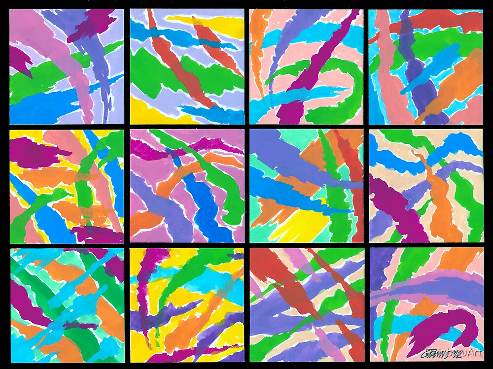 12 ABSTRACT MINIS by RainbowArt