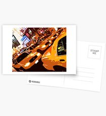 Times Square Taxis Postcards