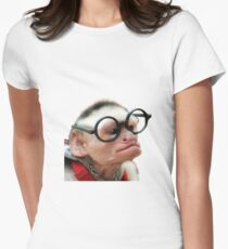 Funny Monkey Women's Fitted T-Shirt