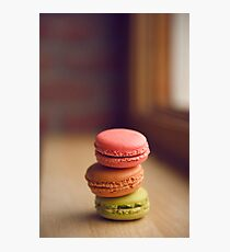 French Macaroon Pile-up Photographic Print