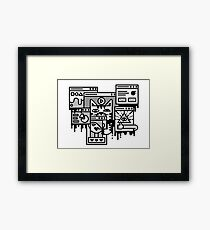 Hello Internet Framed Print