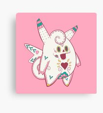 Clefable Pokemuerto | Pokemon & Day of The Dead Mashup Canvas Print
