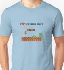 Mario Bros - I Love Smashing Boxes Unisex T-Shirt