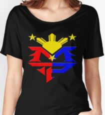 Manny Pacquiao Pac-Man Boxing Champion Women's Relaxed Fit T-Shirt