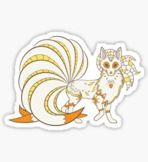 Ninetails Pokemuerto | Pokemon & Day of The Dead Mashup Sticker