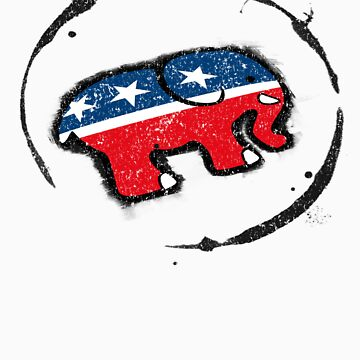 Republican Elephant Grunge by CreativoDesign