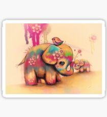 vintage tie dye elephants Sticker