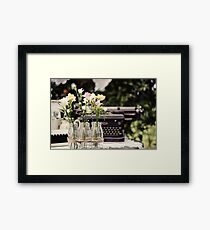 To Type a Love Letter Framed Print