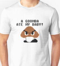 Mario Bros - A Goomba Ate My Baby Unisex T-Shirt