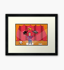 Amazo - The Cat Juggler Framed Print