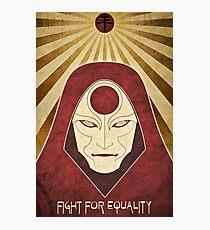 Legend of Korra - Amon Propaganda Poster Photographic Print