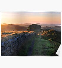 Hadrian's Wall on Cuddys Crag Poster
