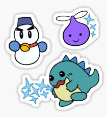 Kirby - Enemy Sticker Set: Chilly, Propeller, and Ice Dragon Sticker