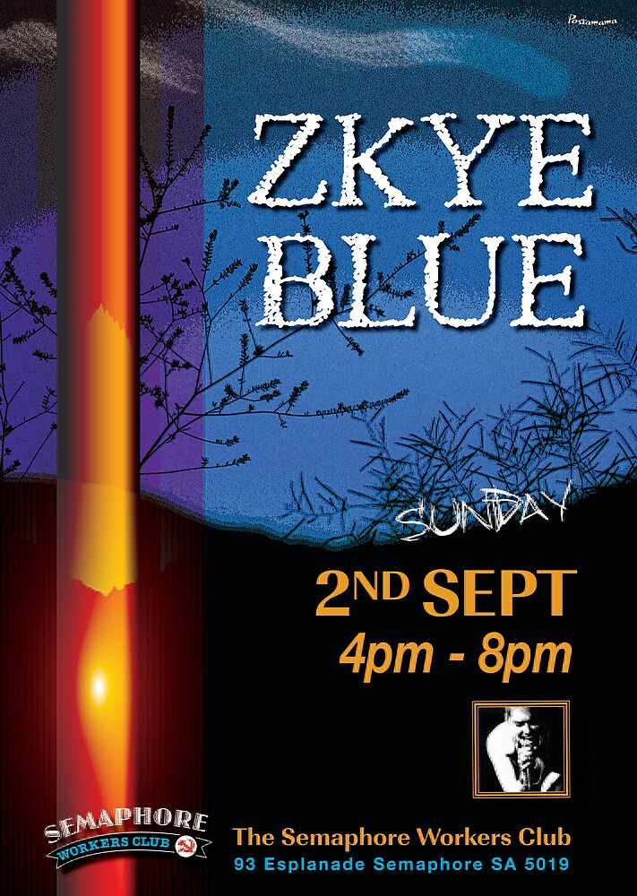 Zkye Blue -Blues Band at the Semaphore Workers Club by Marie Gudic