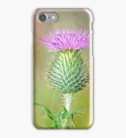 Textured Spear Thistle iPhone Case/Skin