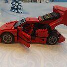 Lego Ferrari, Lego Rockefeller Center Store, Rockefeller Center, New York City by lenspiro