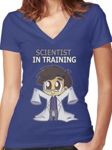 Scientist in Training Women's Fitted V-Neck T-Shirt
