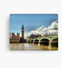 London - Big Ben - Tower Bridge Canvas Print