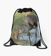 Crane Nursery- Waterfowl Yard Drawstring Bag