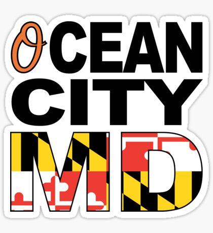 'O'cean City, Maryland w/Flag Sticker