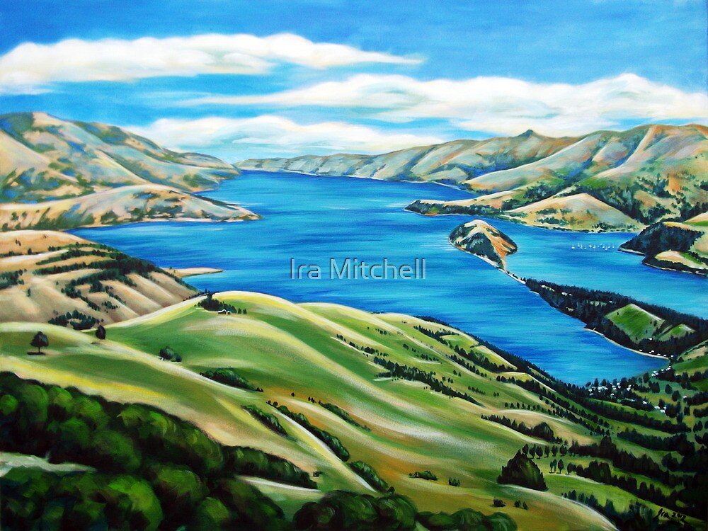 Akaroa Harbour by Ira Mitchell-Kirk