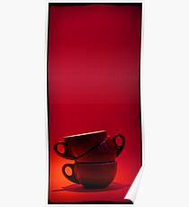 Three coffee cups 2x1 Poster