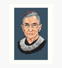 Supreme Court Justice Ruth Bader Ginsburg Art Print