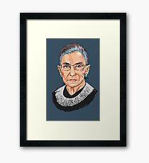 Supreme Court Justice Ruth Bader Ginsburg Framed Print