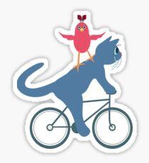 Three On A Bike - Ta Da! Sticker