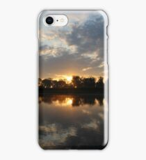 Small Lake At Dawn iPhone Case/Skin