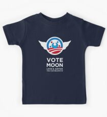 Moon President Power Kids Tee