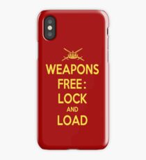Weapons Free: Lock N Load iPhone Case