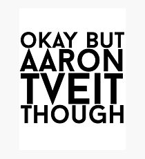 Aaron Tveit Photographic Print
