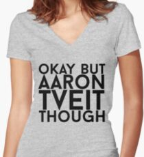 Aaron Tveit Women's Fitted V-Neck T-Shirt