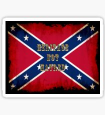 Heritage, Not Hatred - Confederate Flag Sticker