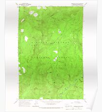 USGS Topo Map Washington State WA Spencer Butte 243893 1965 24000 Poster