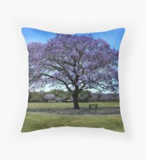 100 Year Old Jacaranda Tree Throw Pillow