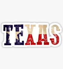 Texas in Flag Color Sticker