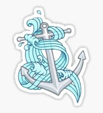 Ocean Wave Anchor Sticker