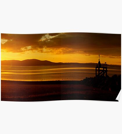 Criffel And The Setting Sun Poster