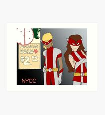 NYCC Competition Entry - RedBoy and BubbleGirl Art Print