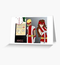 NYCC Competition Entry - RedBoy and BubbleGirl Greeting Card