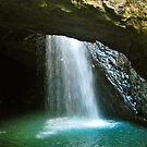 The Natural Arch Waterfall / Natural Bridge by peasticks