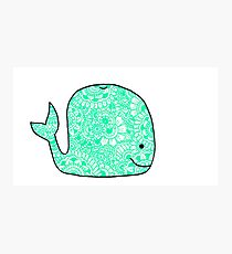 Whale: Teal Photographic Print