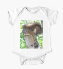 Nervous red squirrel Kids Clothes