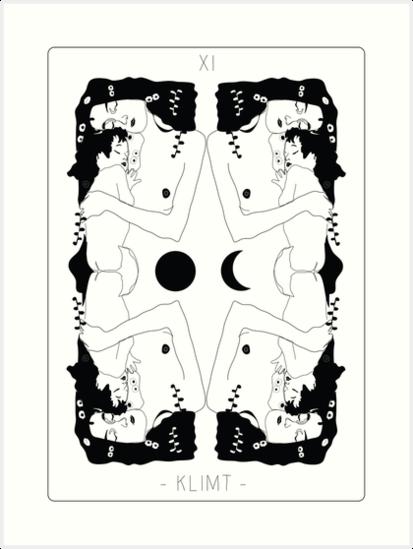 Klimt Tarot Card by Anna McKay